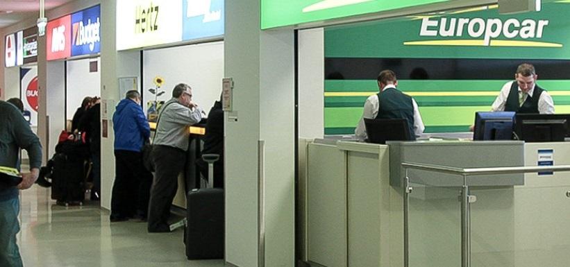 Locadoras de carro no aeroporto de Viena na Áustria